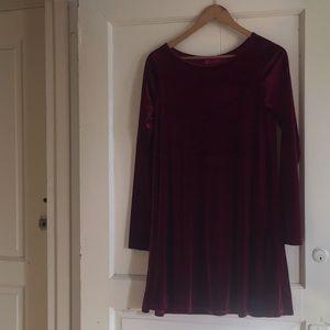 boohoo • Skater dress • Red velvet